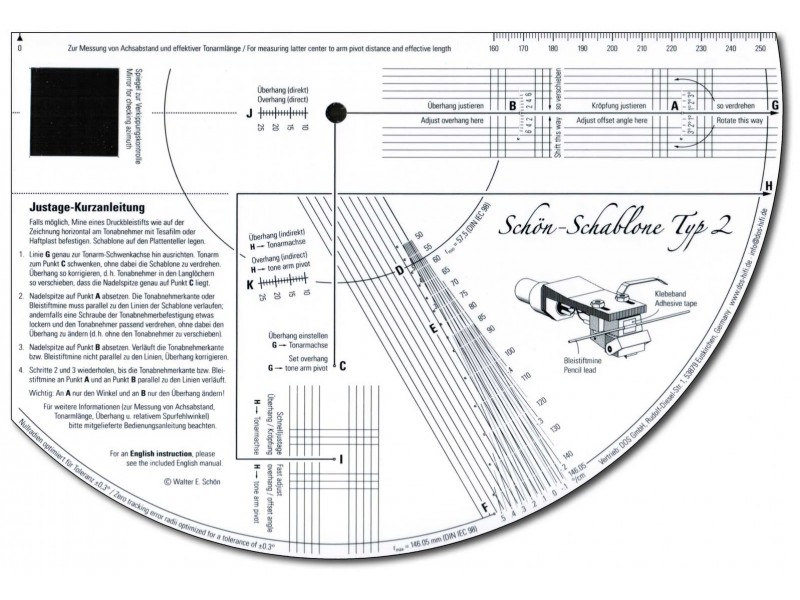 Schon-Schablone Typ 2 - alignment protractor