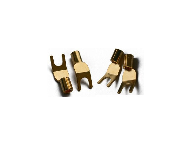 Analogis 6mm gold plated spades - 4 τεμάχια
