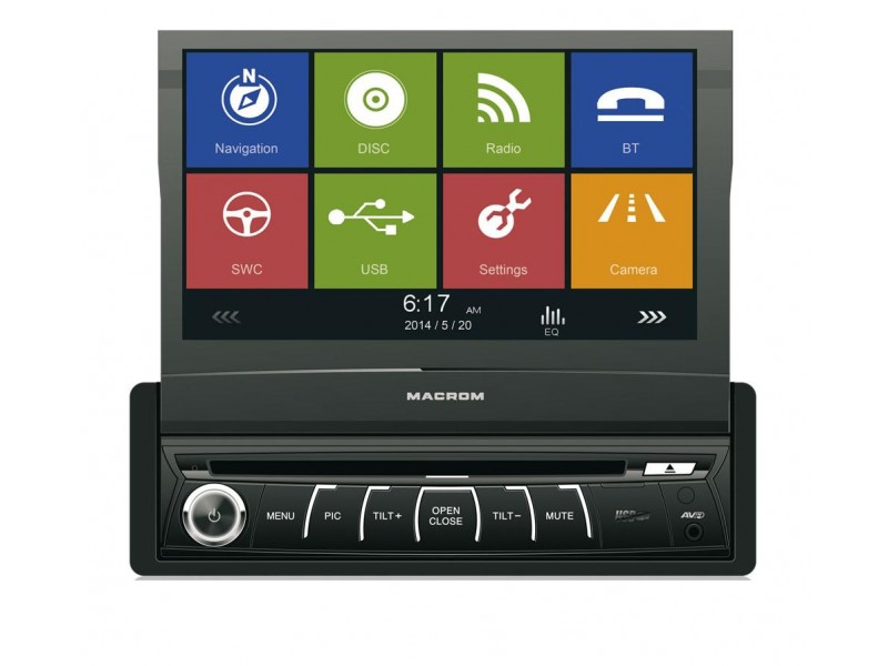 Macrom M-DVD 6560 - Touch Screen , GPS , Greek Maps , USB , Bluetooth®