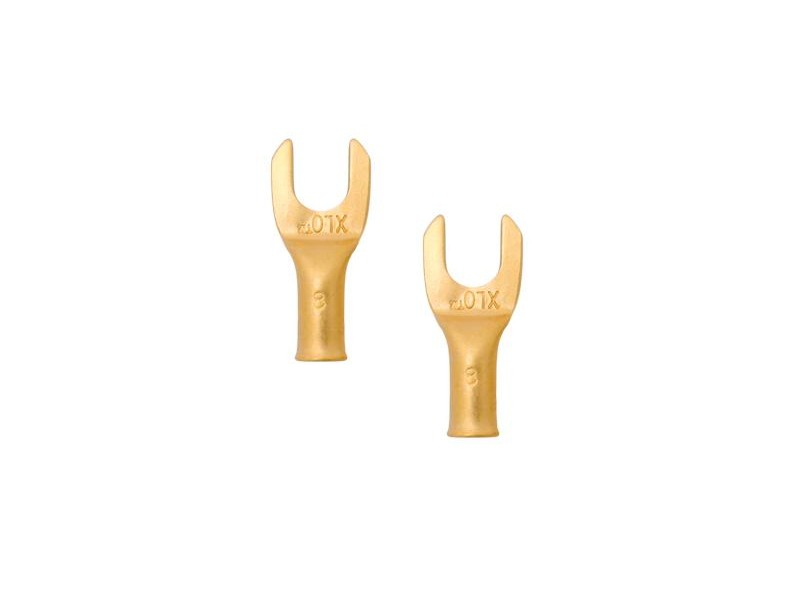 XLO Large Spades - gold plated gold plated - 8 mm - 4 τεμάχια