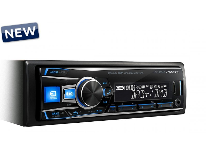 Alpine UTE-93DAB BT variable color - radio usb bluetooth