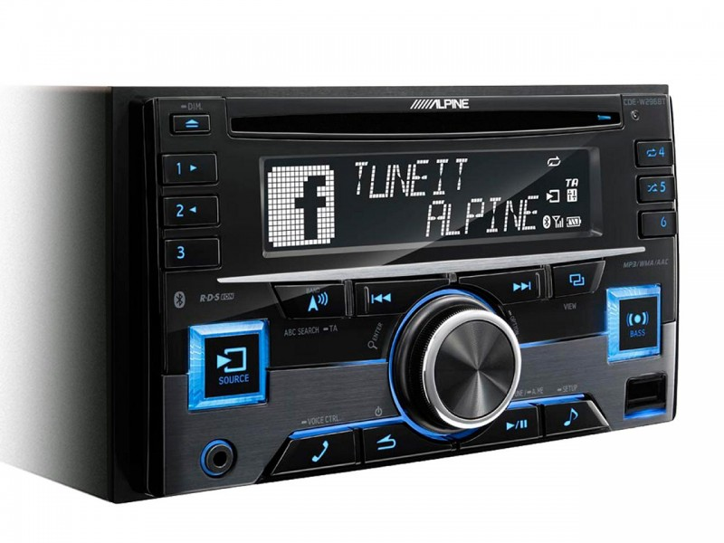 Alpine CDE-W296BT Bluetooth variable color
