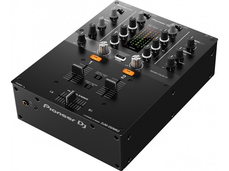Pioneer DJM-250 mk2 - usb - black 2 Channel  Mixer