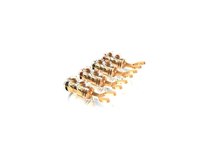 ViaBlue TS 6mm gold plated spades - 4 τεμάχια