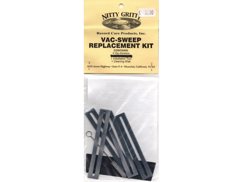 Nitty Gritty Vac Sweep Replacment Kit for models without Pump