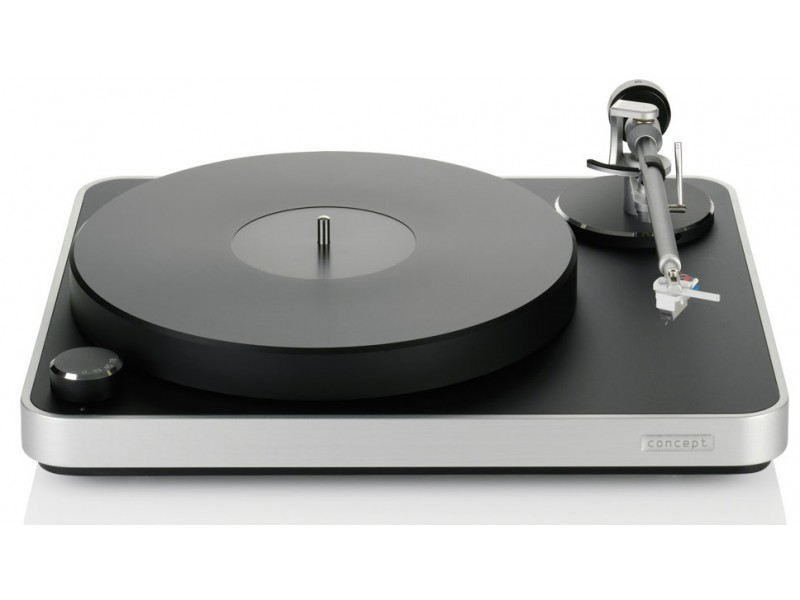 Clearaudio Concept black/silver + tonearm Concept + cartridge Concept MM V2