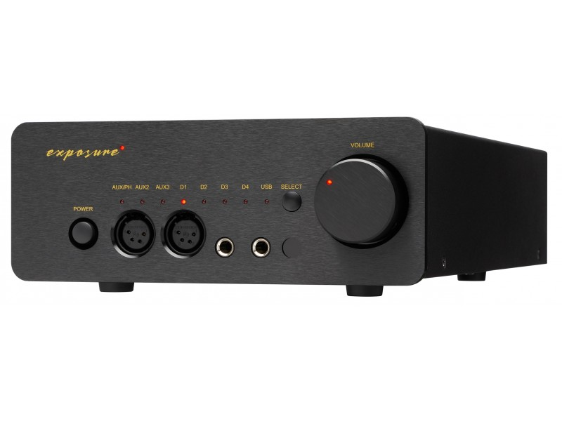 Exposure XM-HP preamplifier / dac / headphone amplifier / usb - black