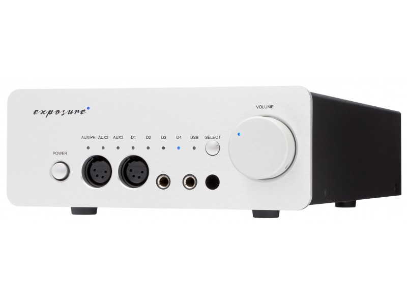 Exposure XM-HP preamplifier / dac / headphone amplifier / usb - silver
