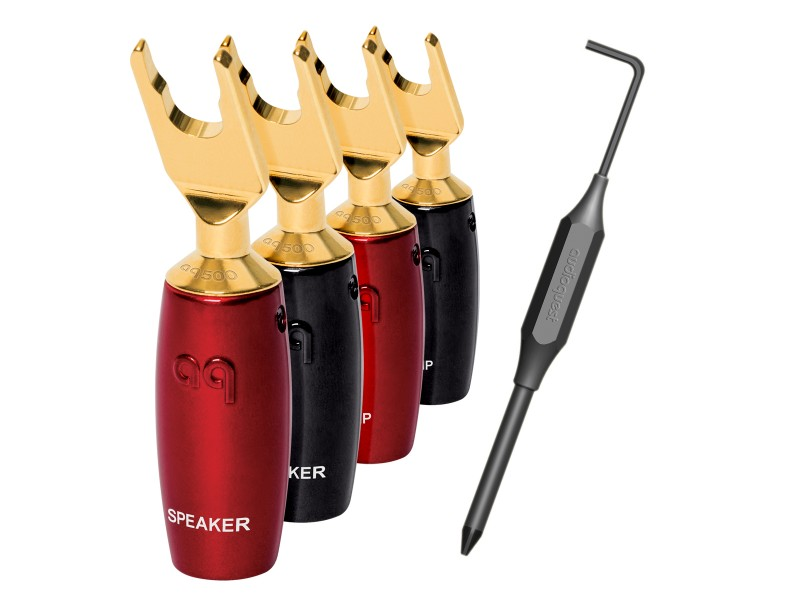 AudioQuest SureGrip-500 Multi-Spade gold plated - 4 τεμαχια