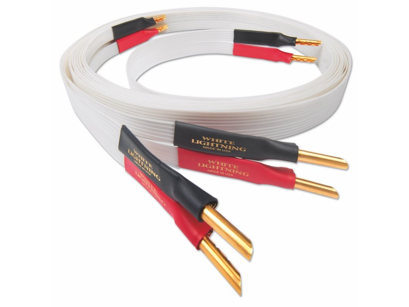 Nordost White Lightning speaker cable - bananas