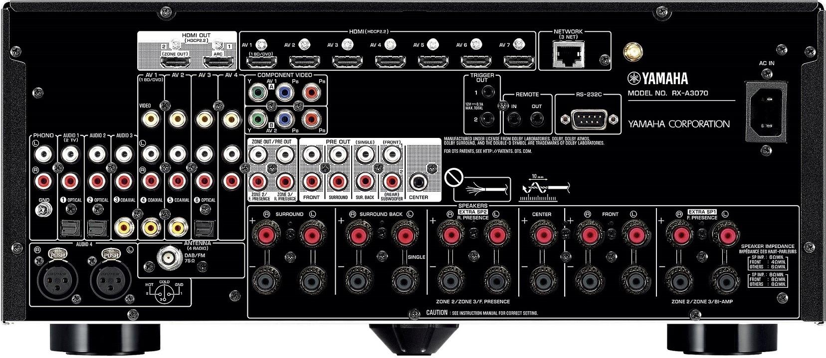 yamaha rx a3070 aventage black kosmas audio video